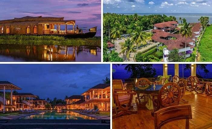 The various views of the Royal Grove Kumarakom Resort