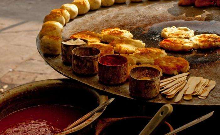 The streets of Delhi offer scrumptious choices of street food