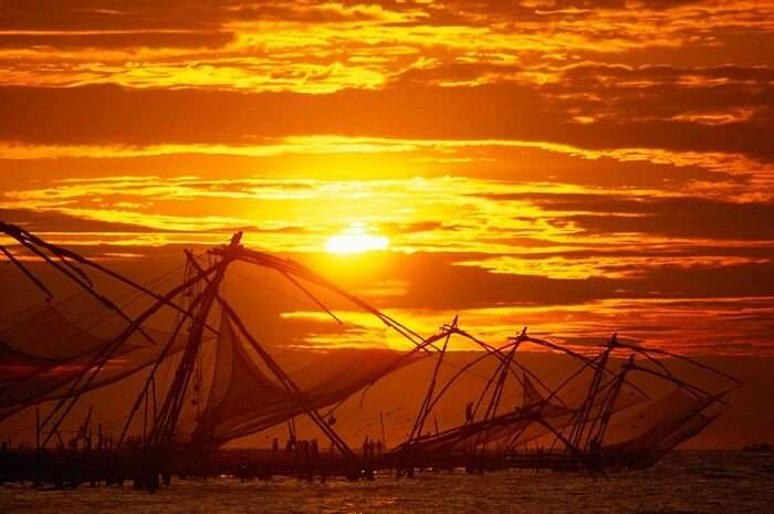 A beautiful sunset at Fort Cochin in Kerala