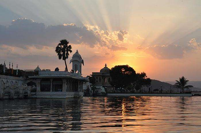Sunset at Lake Pichola in Udaipur