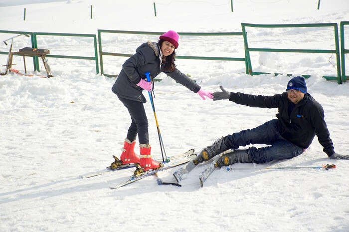 Gulmarg - unsuccessful skiing attempt