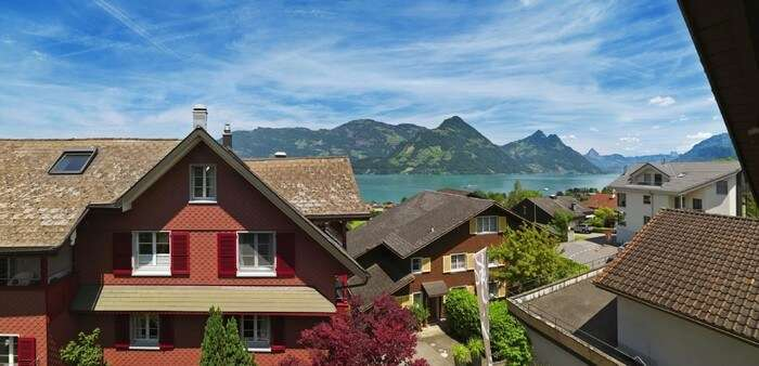 Boutique Hotel Schluessel offers mesmerising views from its windows