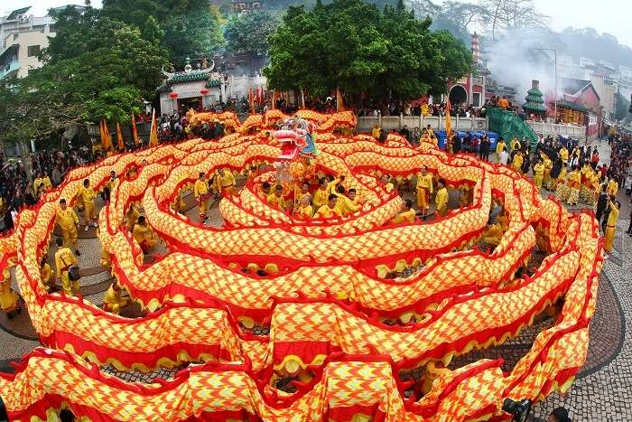 Colorful and vibrant Chinese New Year celebrations at Ah Ma Temple in Macau