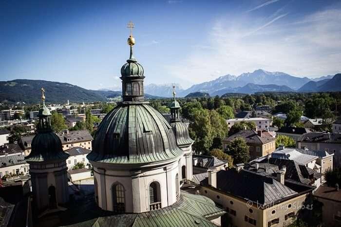 Beautiful architecture of Salzburg