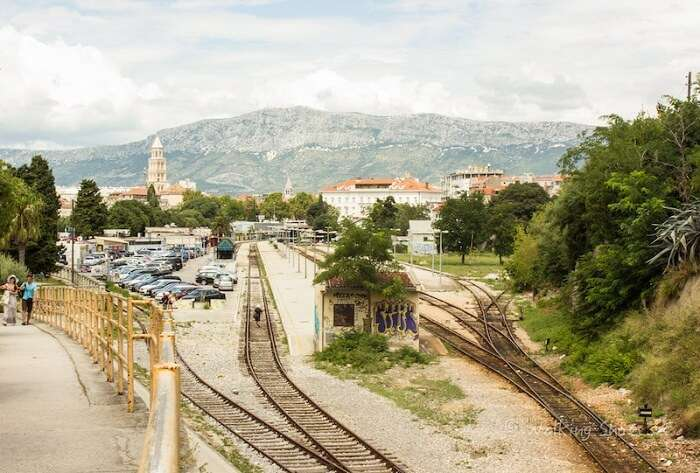 Railway tracks in Croatia