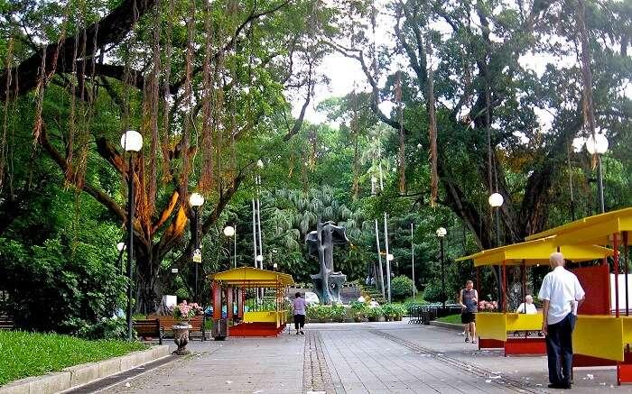 The scene at the Macau Park