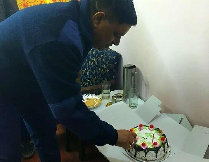 Celebrating my father's birthday