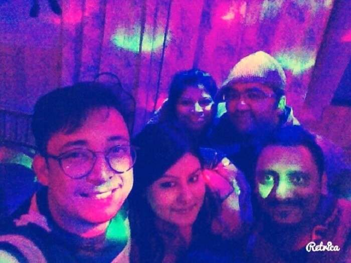 Party in a clubhouse in Manali