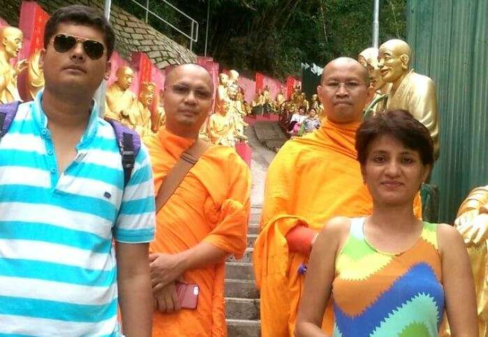 Picture perfect with the monks in Hong Kong
