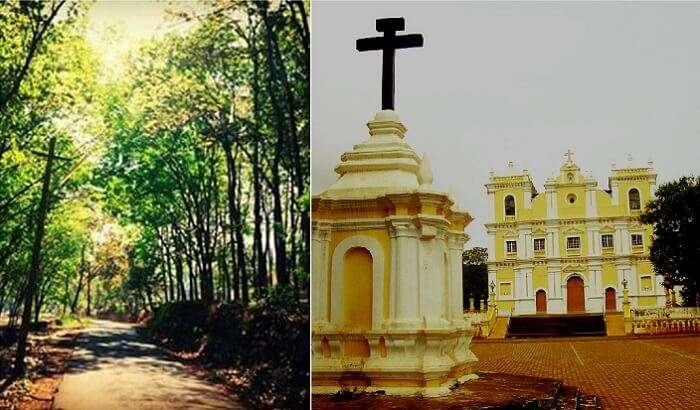 The road leading to the Igorchem Bandh and the Church of Our Lady of Snows nearby