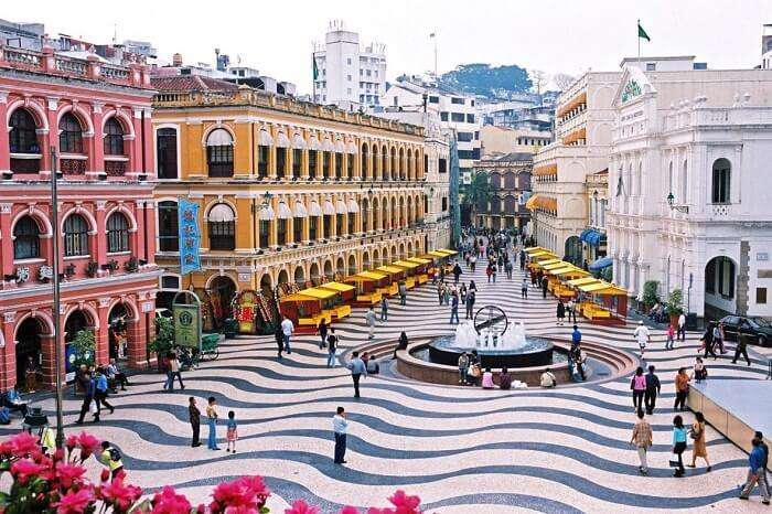 A day scene at Senado Square in Macau