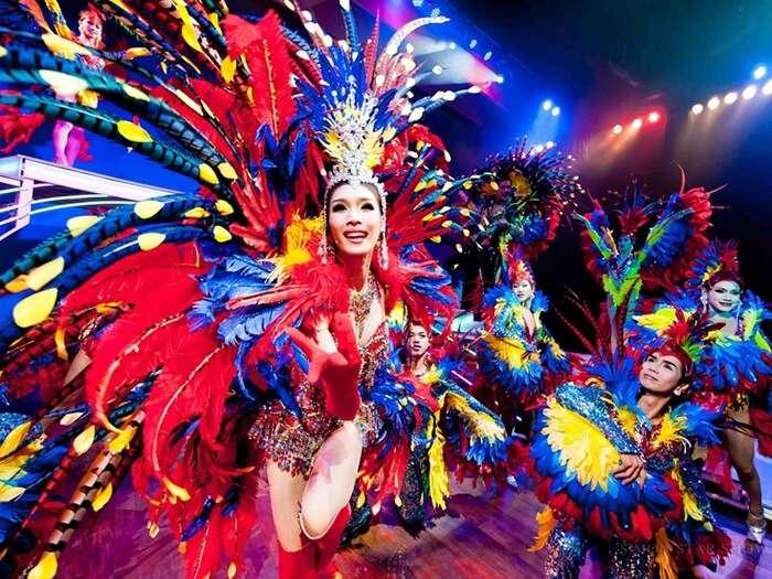 The Simon Cabaret dancers performing in Phuket