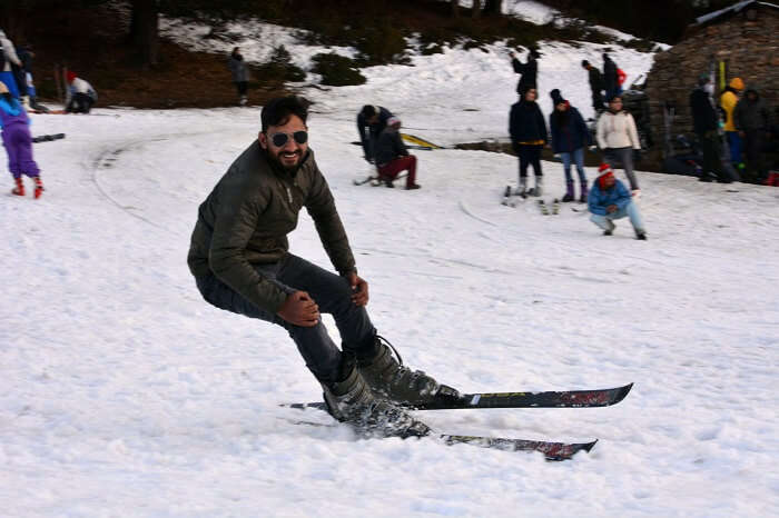 People usually visit Auli for skiing during winters