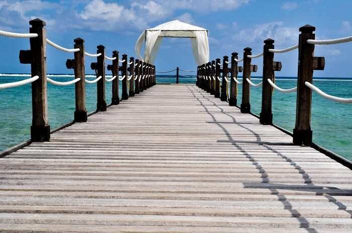 The beauty of St Felix Beach when viewed from its pier is truly mesmerizing