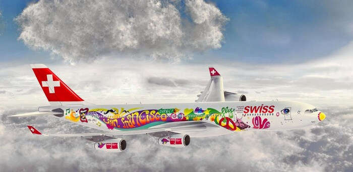 A swiss airways aircraft