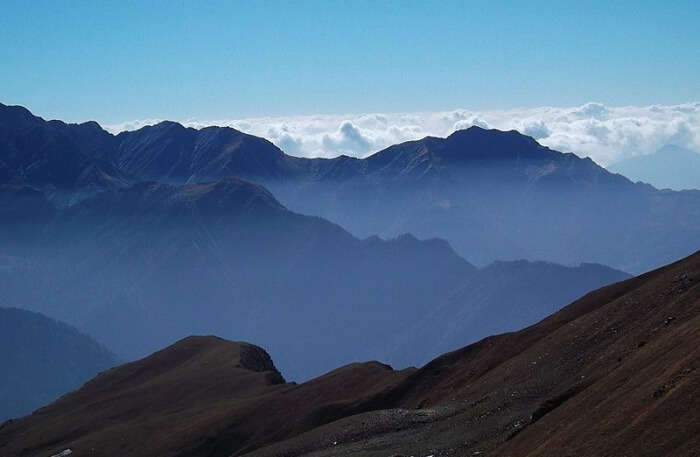 Beautiful large mountains