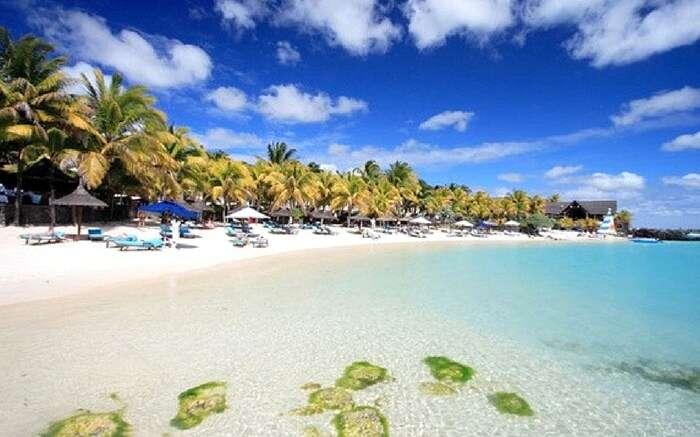 A view of Grand Bay Beach in Mauritius