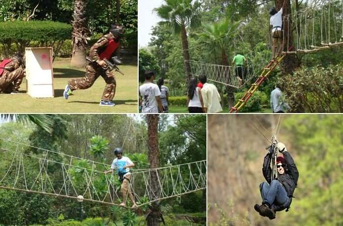 The various activities that make Awara Adventure Farms one of the best adventure places in Delhi NCR