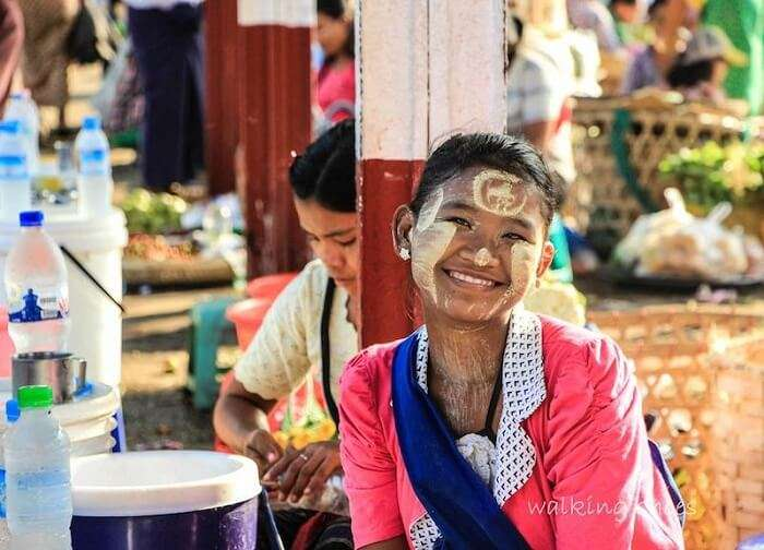 A local girl of Myanmar