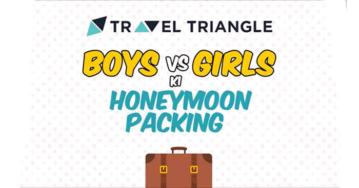 Honeymoon packing for boys vs those for girls