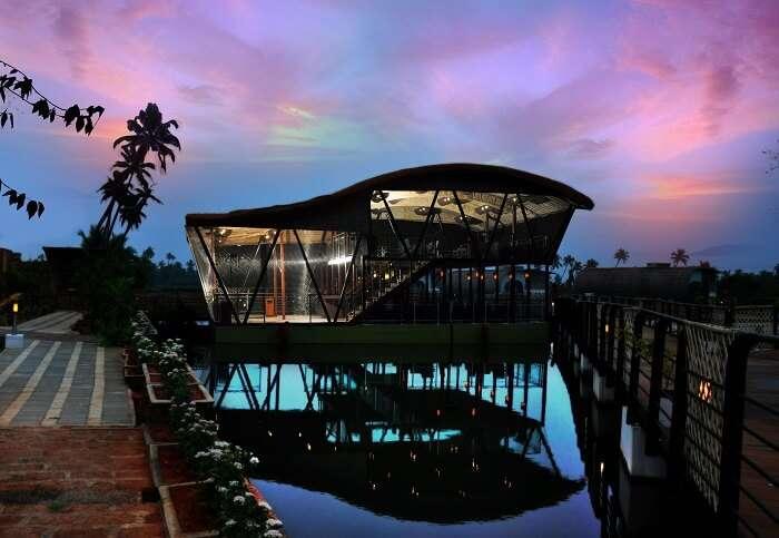 A floating villa at Aquatic Resort in Cochin