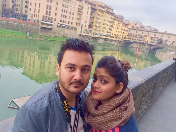 Manvi and her husband in Florence