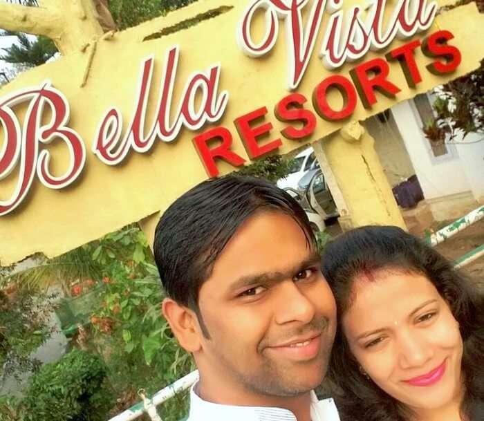 Vishu and Prachi at their Resort in Kerala