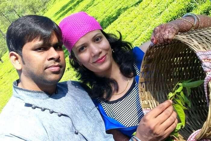 Vishu and Prachi at the Spice Plantation in Kerala