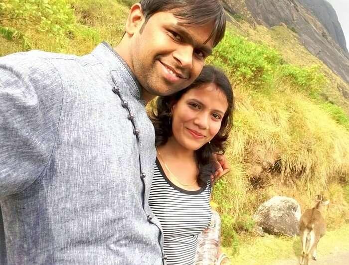 Vishu and his wife in Kochi