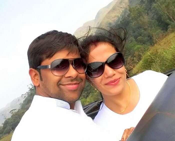 Vishu and Prachi at the Wildlife Sanctuary