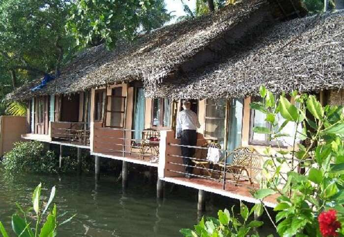 A guest at Kadalkkara Lake Resort - one of the most economical resorts in Cochin