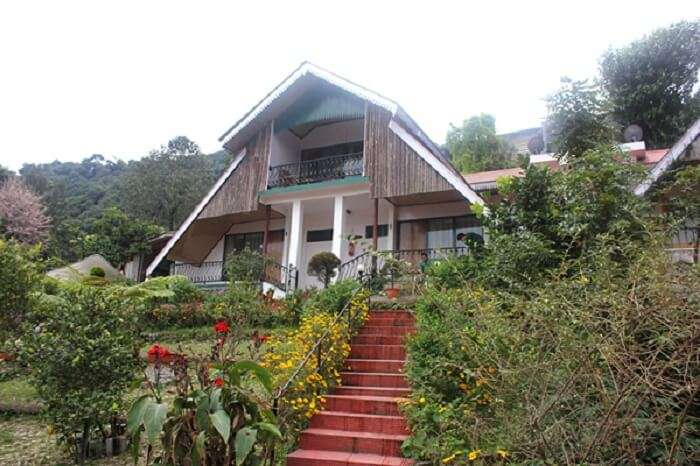 Mandarin Village resort is perched upon the greenery of the hills