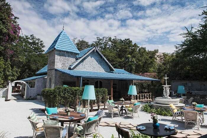 Outdoor settings of Olive Bistro are perfect for a romantic breakfast