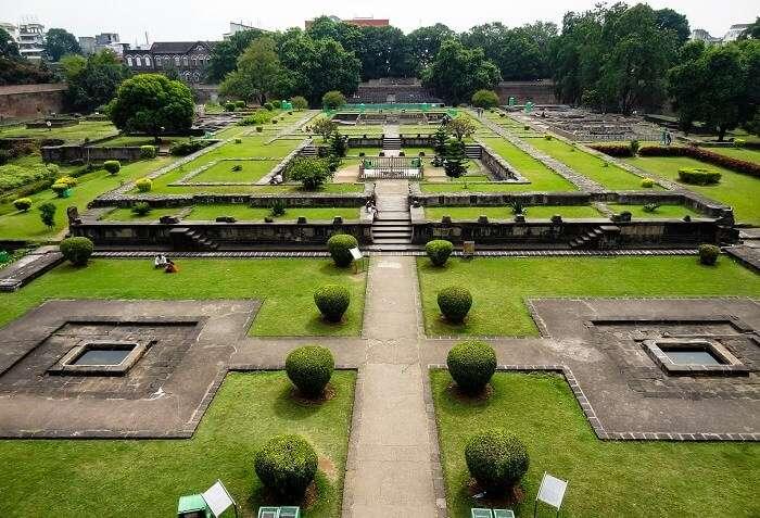 The beautiful premises of Shaniwarda Fort in Pune