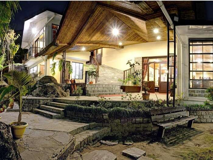 Ethnic exteriors of Summit Noring Resort and Spa