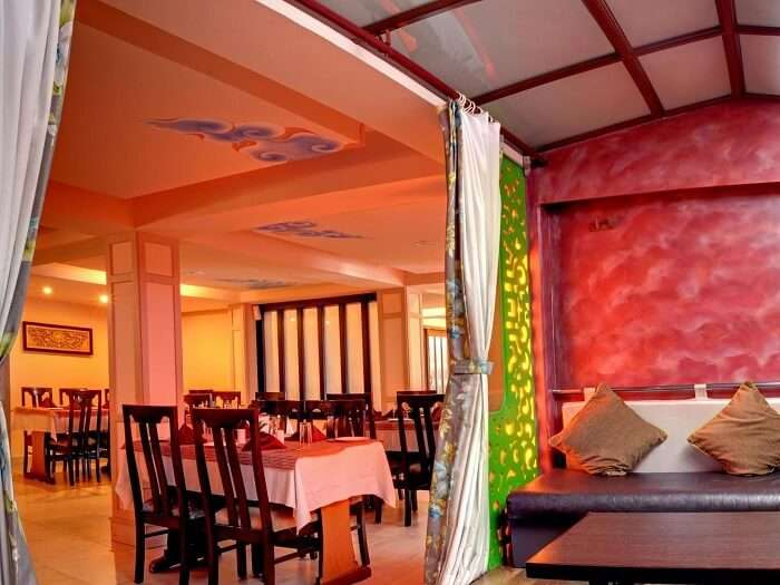 Colorful interiors of Summit Ttakshang Residency Hotel & Spa in their suite rooms