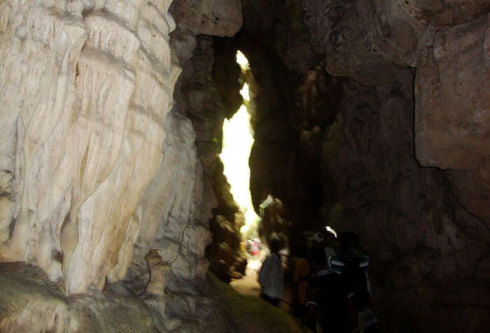 Tourists entering the Limestone Caves in Baratang