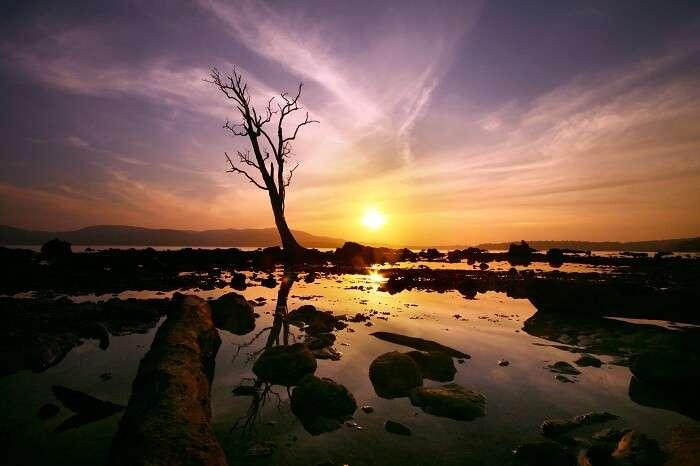 A beautiful sunset at the Andaman Islands