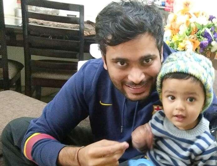 Nikhil and his nephew