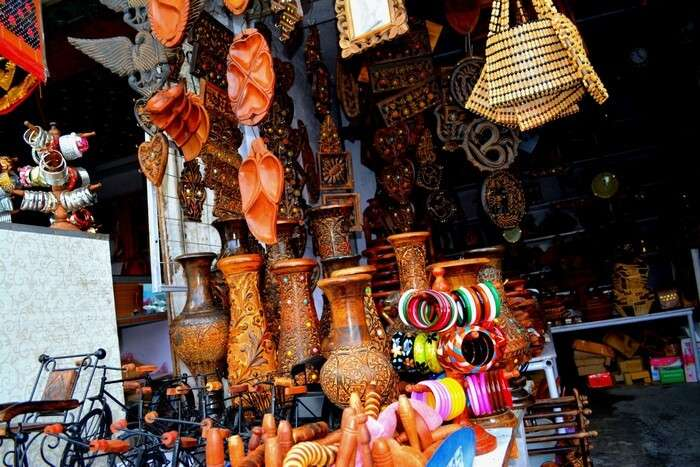 A shop selling handicrafts and antiques in Mussoorie