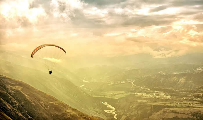Paragliding is one of the best things to do in Mussoorie