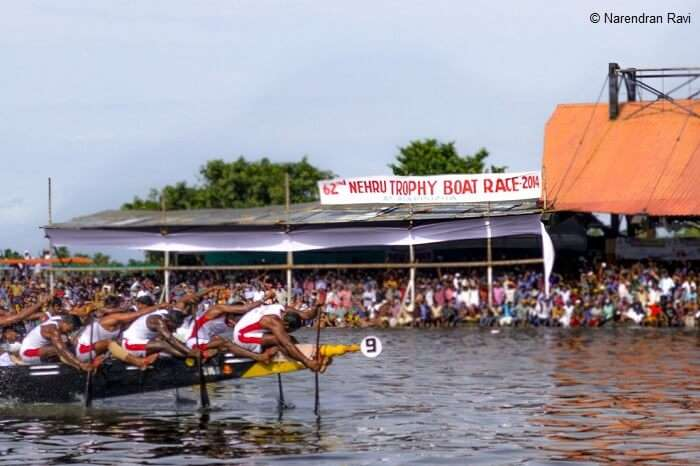 A snap from the 62nd Nehru Trophy Boat Race in Alappuzha