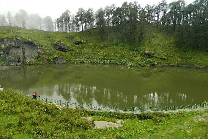 A shot of the Serolsar Lake near Tirthan Valley