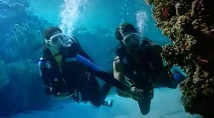 Deep sea diving in Spain