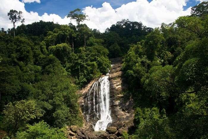 A beautiful shot of the Valara Waterfalls in Munnar