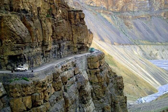 The breathtaking view of Kaza