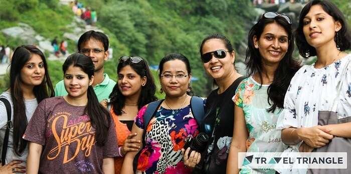 Aditi and her friends in McLeodganj