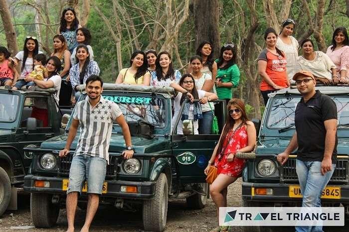 All girls trip Jungle Safari in Jim Corbett