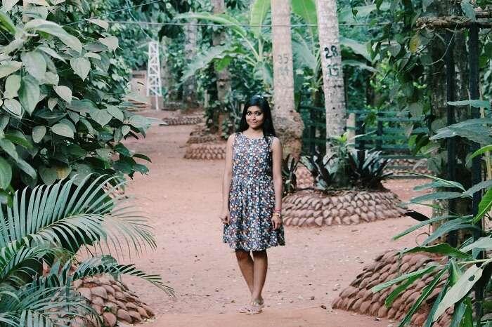 Kanika amidst nature in Sri Lanka