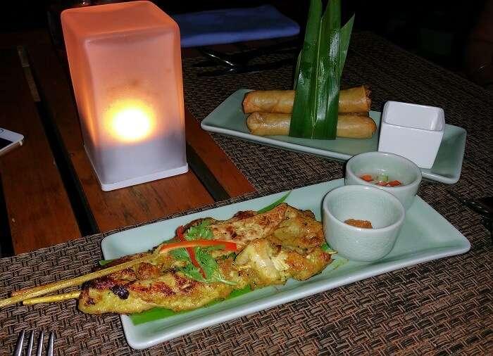 Food at Centara Ras Fushi Resort in Maldives